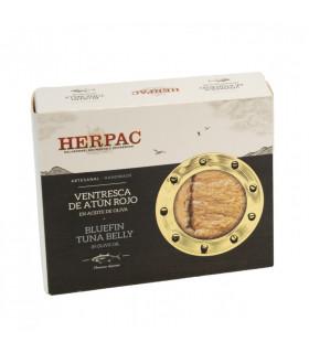 Ventresca de atún rojo en aceite de oliva Herpac 245 gr