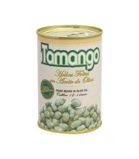 Habas en Aceite de Oliva Bohnen in Olivenöl gebraten Tamango