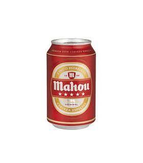 Bier Mahou 5 Sternen Cerveza Mahou 5 estrellas - 6 Dosen 33 cl