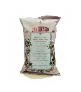 Spanische Kartoffelchips mit Vera Paprika, Olivenöl und Himalayasalz San Nicasio 150 gr