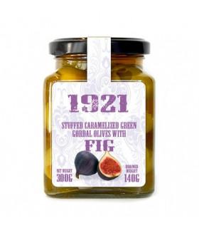 Olives caramélisées farcies aux figues
