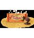 Turron de chocolate negro con naranja Suchard